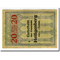 Billet, Autriche, Heiligenberg, 20 Heller, Texte 1, 1920, SPL, Mehl:361Ia - Autriche