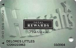 Harrah's Casino Multi-Property - TR Platinum Slot Card @2003 - Casino Cards
