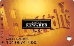 Harrah's Casino Multi-Property - TR Gold Slot Card @2003 With Signature Strip - Casino Cards