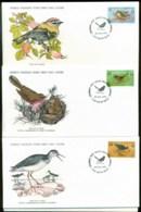 Guernsey 1978 WWF,RedshankWarbler, Firecrest, Birds ,Franlkin Mint (with Inserts) 3xFDC Lot79622 - Guernsey