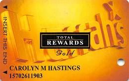 Harrah's Casino Multi-Property - TR Gold Slot Card @2004 - Casino Cards