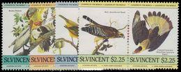 St Vincent 1985 Audubon Birds Unmounted Mint. - St.Vincent (1979-...)