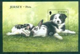 Jersey 2003 Pets, Cat, Dog, Rabbit MS MUH Lot79907 - Jersey