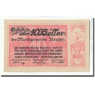 Billet, Autriche, Röschitz N.Ö. Marktgemeinde, 10 Heller, Texte, 1920, SPL - Autriche
