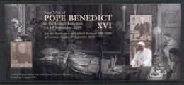 Isle Of Man 2011 State Visit Of Pope Benedict XVI MS MUH - Isle Of Man