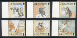 Alderney 1996 Domestic Cats MUH - Alderney
