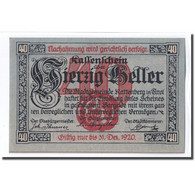 Billet, Autriche, Rattenberg Tirol Stadt, 40 Heller, Valeur Faciale, 1920, SPL - Autriche