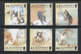 Alderney 1996 Domestic Cats FU - Alderney