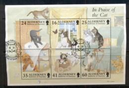 Alderney 1996 Domestic Cats MS FU - Alderney