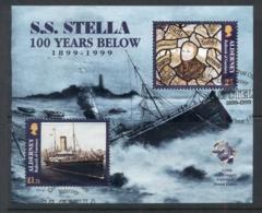 Alderney 1999 Wreck Of The SS Stella, UPU 125th Anniv MS FU - Alderney