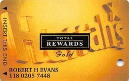 Harrah's Casino Multi-Property - TR Gold Slot Card @2005 / 3 Phone#s / @2005 Under Harrah's - Casino Cards