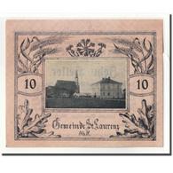Billet, Autriche, St. Laurenz O.Ö. Gemeinde, 10 Heller, Texte, 1920 - Autriche