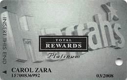 Harrah's Casino Multi-Property - TR Platinum Slot Card @2005 / 3 Phone#s - Casino Cards