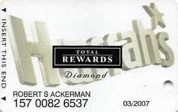 Harrah's Casino Multi-Property - TR Diamond Slot Card @2005 / 3 Phone#s - Casino Cards