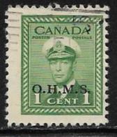 Canada Scott # O1 Used King George Vl Stamp Overprinted, 1949-50 - Overprinted