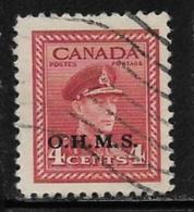Canada Scott # O4 Used King George Vl Stamp Overprinted, 1949-50 - Overprinted