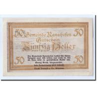 Billet, Autriche, Ranshofen, 50 Heller, Paysage, 1920, SPL, Mehl:819Eb - Autriche