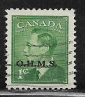 Canada Scott # O12 Used  King George Vl Overprinted, 1950 - Officials