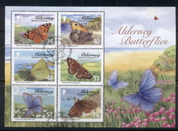 Alderney 2008 Alderney Butterflies MS FU - Alderney