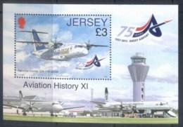 Jersey 2012 Aviation History MS MUH - Jersey