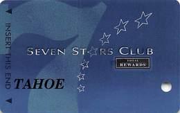 Harrah's Casino Multi-Property - TR Seven Stars Slot Card @2005 / 3 Phone#s / TAHOE BLANK - Casino Cards