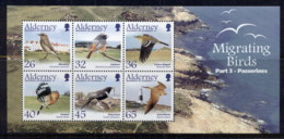 Alderney 2004 Migratory Birds MS MUH - Alderney