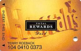 Harrah's Casino Multi-Property - TR Gold Slot Card @2005 With Signature Strip - Casino Cards