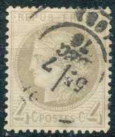[10792]N° 52a, 4c Gris-jaunâtre, Beau Centrage - 1871-1875 Cérès