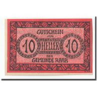 Billet, Autriche, Raab O.Ö. Marktgemeinde, 10 Heller, Texte, 1920, 1920-02-26 - Autriche