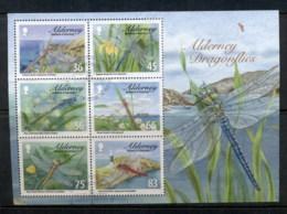 Alderney 2010 Alderney Dragonflies MS (separated, Hinge Reinforced) FU - Alderney