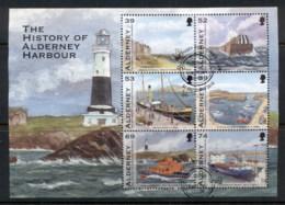 Alderney 2012 History Of Alderney Harbour MS FU - Alderney