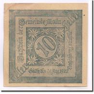 Billet, Autriche, Mölln, 10 Heller, Paysage, 1920, SPL, Mehl:625 - Autriche