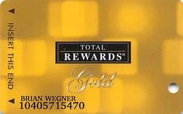 Harrah's Casino Multi-Property - TR Gold Slot Card @2005 / Non-Metallic Boxes / 10 Casino Logos - Casino Cards