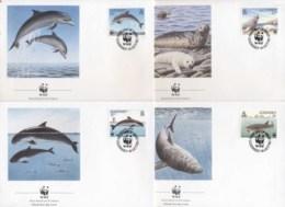 Guernsey 1990 WWF Guernsey Sea Life, Seal, Whale FDC - Guernsey