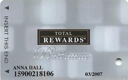 Harrah's Casino Multi-Property - TR Platinum Slot Card @2005 / Non-Metallic Boxes / 10 Casino Logos - Casino Cards