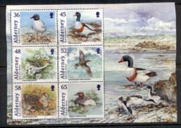 Alderney 2011 Birds (separations, Hinge Reinforced) MS FU - Alderney