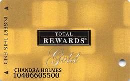 Harrah's Casino Multi-Property - TR Gold Slot Card @2005 / Metallic Boxes / 10 Casino Logos - Casino Cards