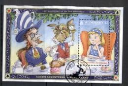 Alderney 2015 Alice In Wonderland MS FU - Alderney