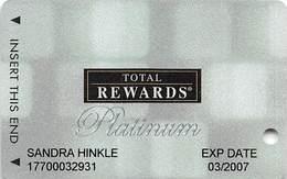 Harrah's Casino Multi-Property - TR Platinum Slot Card @2005 / Metallic Boxes / 10 Casino Logos - Casino Cards