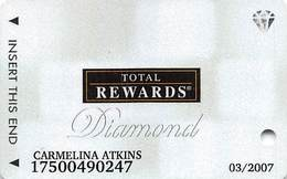 Harrah's Casino Multi-Property - TR Diamond Slot Card @2005 / Metallic Boxes / 10 Casino Logos - Casino Cards