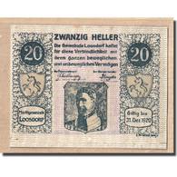 Billet, Autriche, Loosdorf, 20 Heller, Texte 1, 1920, 1920-04-08, SPL, Mehl:563b - Autriche