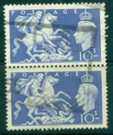 GB 1951 High Values 10/- Pair FU Lot32718 - 1902-1951 (Könige)
