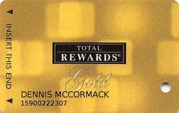 Harrah's Casino Multi-Property - TR Gold Slot Card @2006 / 10 Casino Logos - Casino Cards