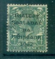 Ireland 1922 4d Grey-green Provisional Opt. Blk Dollard FU Lot78374 - 1922-37 Irish Free State
