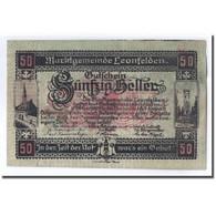 Billet, Autriche, Leonfelden O.Ö. Marktgemeinde, 50 Heller, Paysage 2, 1920 - Autriche
