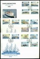 Isle Of Man 1993 Ships Defins 3x FDC Lot24842 - Isle Of Man