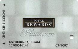 Harrah's Casino Multi-Property - TR Platinum Slot Card @2006 / 10 Casino Logos - Casino Cards