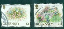 Guernsey 1992-96 £1, £3 Flowers FU Lot70322 - Guernsey
