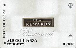 Harrah's Casino Multi-Property - TR Diamond Slot Card @2006 / 10 Casino Logos - Casino Cards