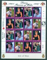 Isle Of Man 1998 Princess Diana In Memoriam MS MUH Lot82019 - Isle Of Man